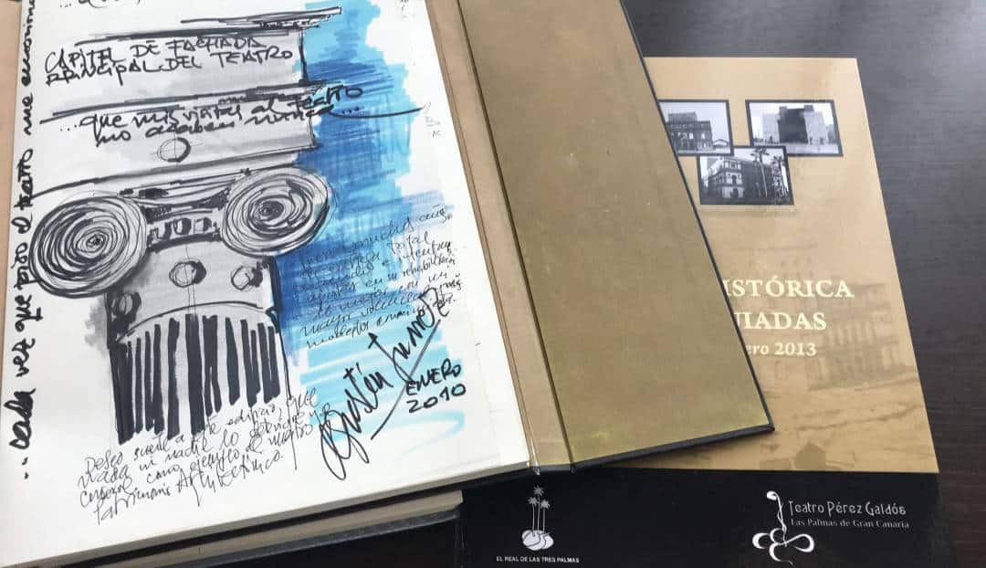 Imagen noticia - Los guías voluntarios del Teatro Pérez Galdós editan un libro con datos y curiosidades de las visitas recibidas